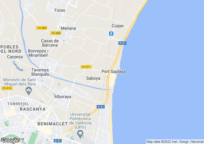 Map for Alboraya, Valencia