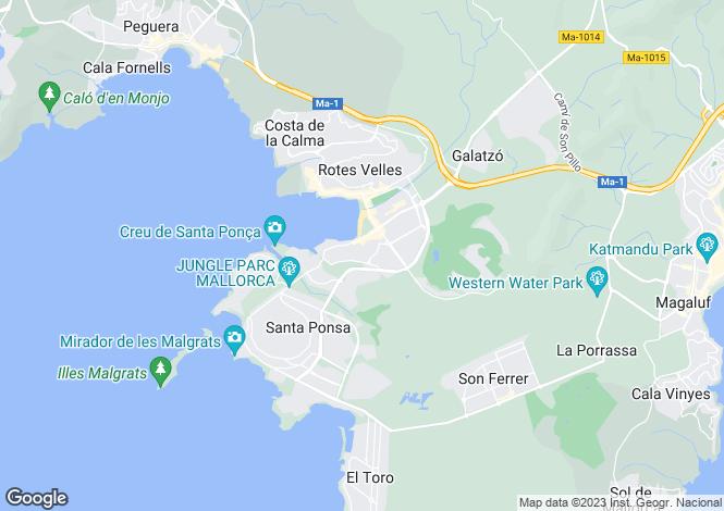 Map for Santa Ponsa, Mallorca, Balearic Islands