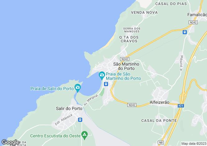 Map for São Martinho do Porto, Alcobaça, Leiria