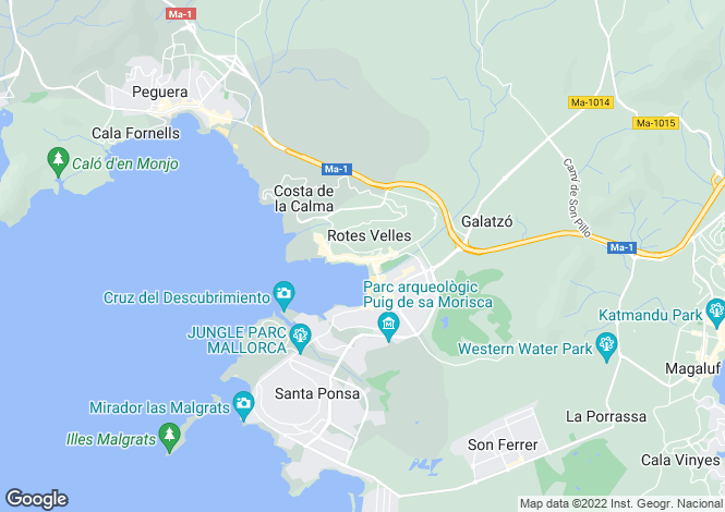 Map for Santa Ponsa, Mallorca, Balearic Islands