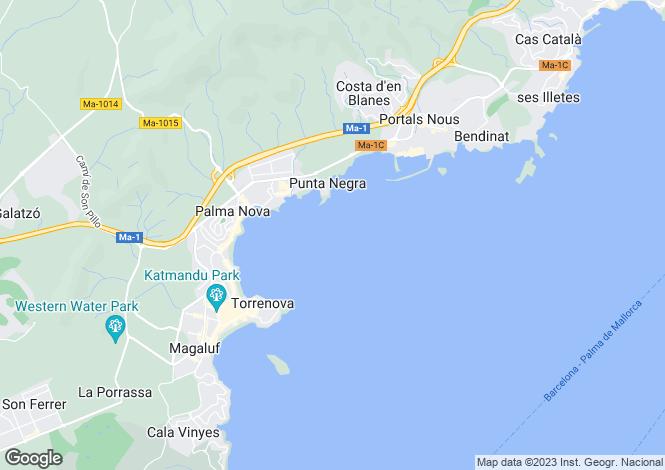 Map for Balearic Islands, Mallorca, Magalluf