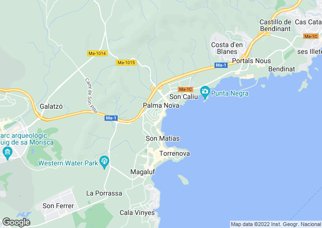 Map for Palma Nova, Mallorca, Balearic Islands