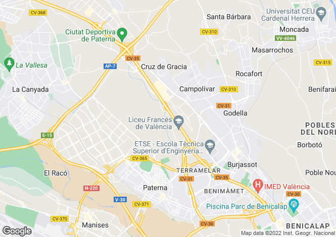 Map for Paterna, Valencia