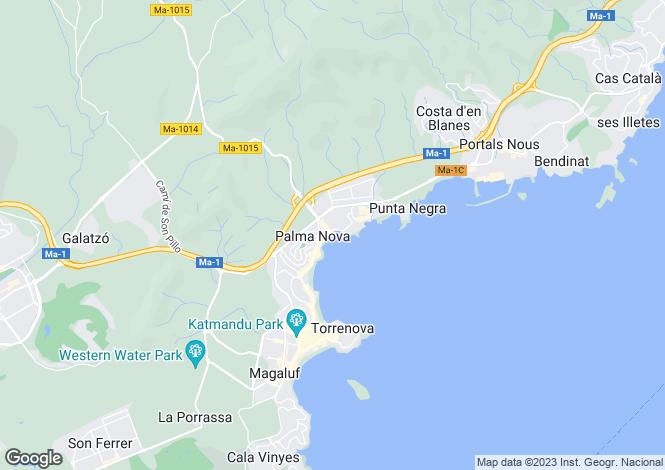 Map for Balearic Islands, Mallorca, Palma Nova