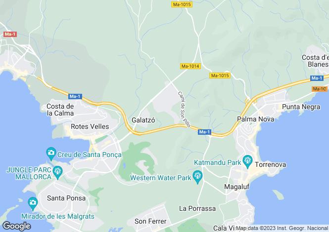 Map for Spain - Balearic Islands, Mallorca, Cala Vinyes