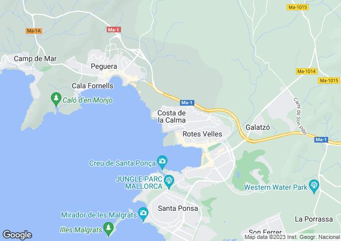 Map for 07183, Costa de la Calma, Spain