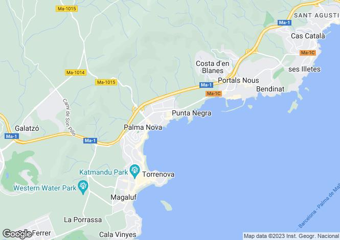Map for Palma Nova, Mallorca, Balearic Islands