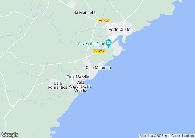 Map for Balearic Islands, Mallorca, Porto Cristo