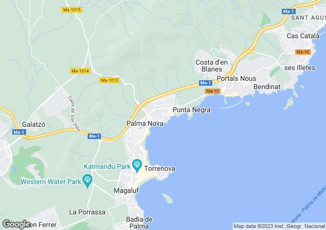 Map for Spain - Balearic Islands, Mallorca, Son Caliu