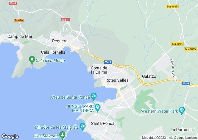 Map for Special Designer Villa, Costa de La Calma, Mallorca