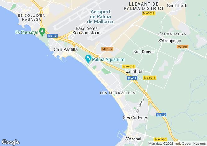 Map for Platja de Palma, Spain