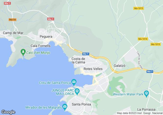 Map for Santa Ponsa, Mallorca, Spain