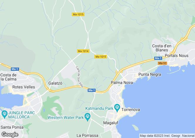 Map for Balearic Islands, Mallorca, Son Caliu