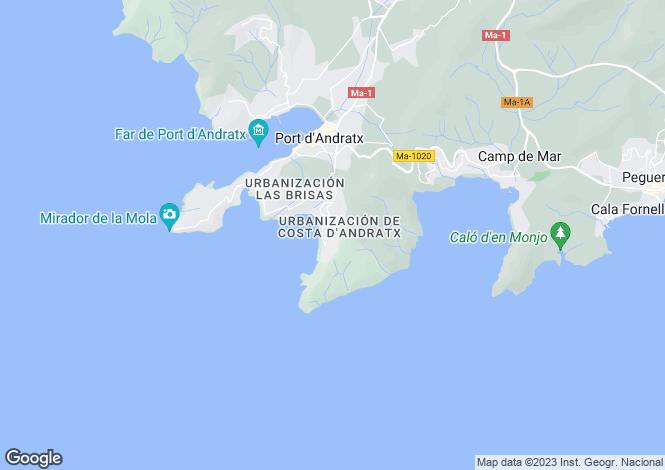 Map for Cala Llamp, Puerto Andratx, 3 bedroom Uber Modern Villa, South-West Mallorca