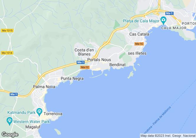 Map for Puerto Portals, Mallorca, Balearic Islands