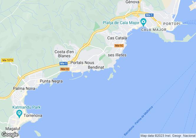 Map for Achorage Hill, Bendinat, Mallorca