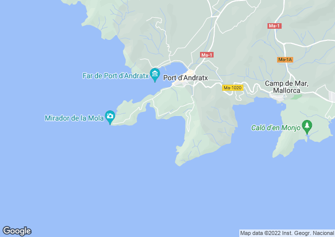 Map for Exclusive penthouse with spectacular sea views in Cala Llamp, Port Andratx