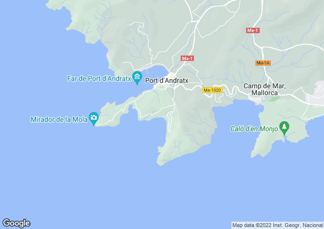Map for Apartment In Good Location, Cala Llamp, Mallorca