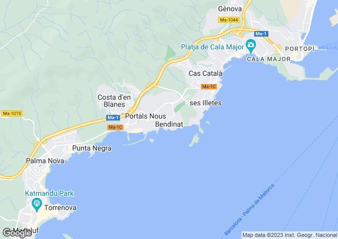 Map for Spain - Balearic Islands, Mallorca, Bendinat