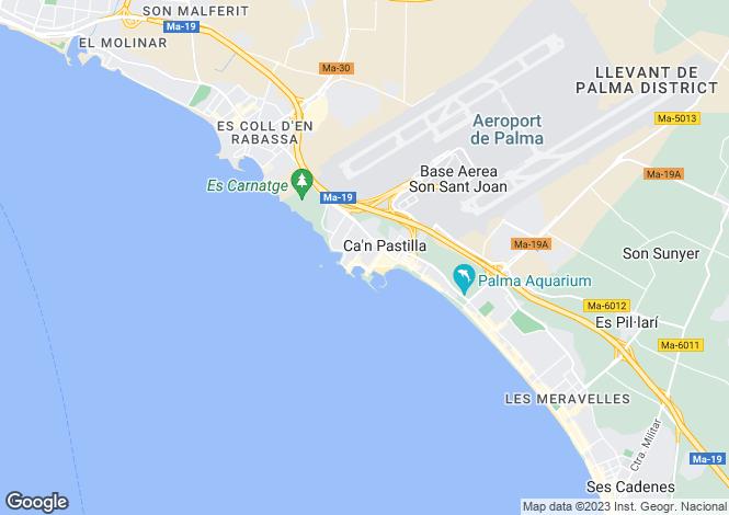Map for Spain - Balearic Islands, Mallorca, Santa Ponsa