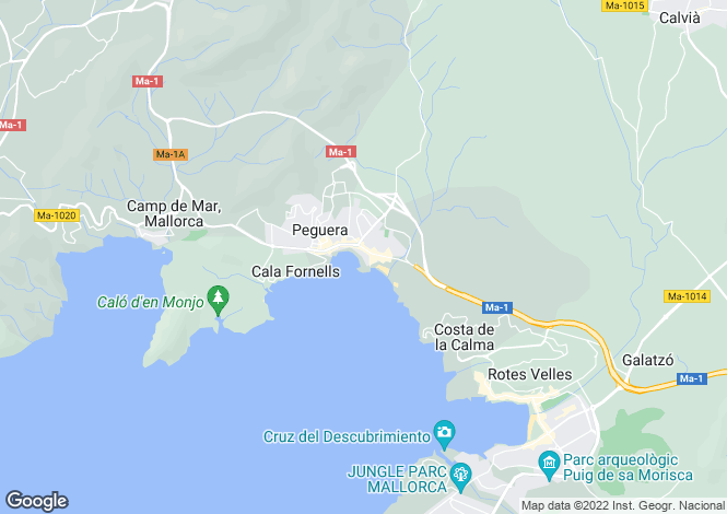 Map for 07160, Cala Fornells, Spain