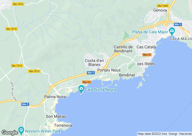Map for Costa D'en Blanes, Puerto Portals