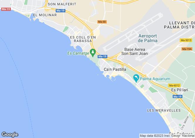 Map for Balearic Islands, Mallorca, Can Pastilla