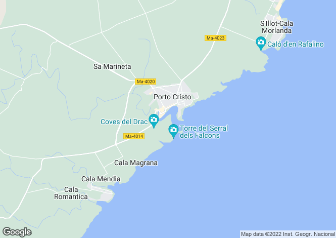 Map for 07680, Cala Magrana, Spain