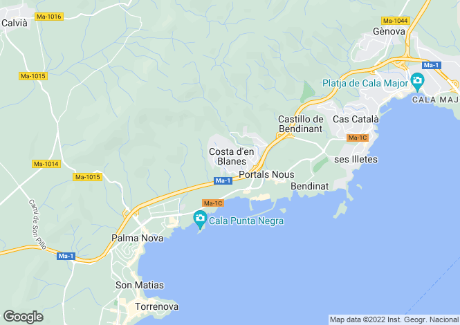 Map for Costa D'en Blanes, Islas Baleares, Spain
