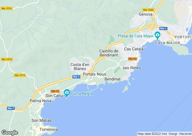 Map for Palmanova, BalearIc Islands, Spain