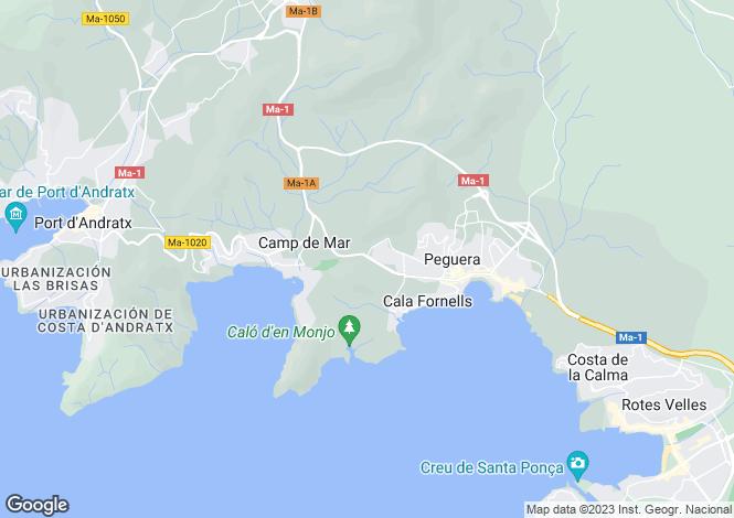 Map for Luxury Villa With Fantastic Views, Port Andratx, Mallorca