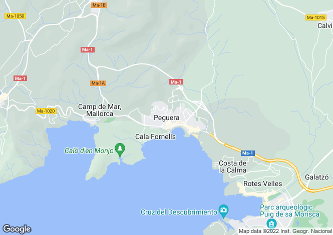 Map for Paguera, Mallorca, Spain