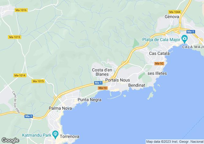 Map for Balearic Islands, Mallorca, Costa D'en Blanes