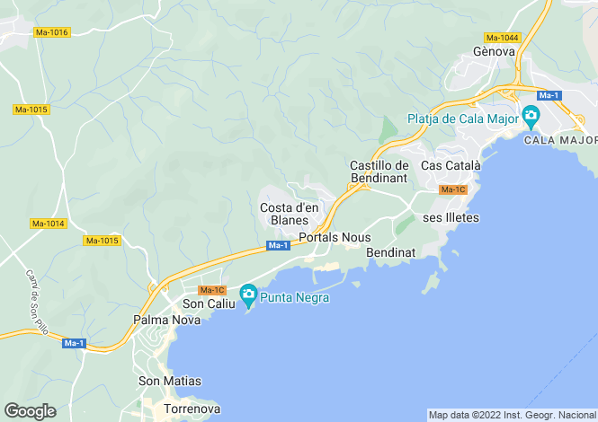 Map for 07181, Costa D'en Blanes, Spain