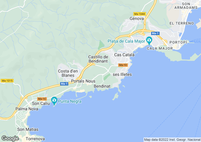 Map for Charming Villa In Traquil Setting, Anchorage Hill, Mallorca