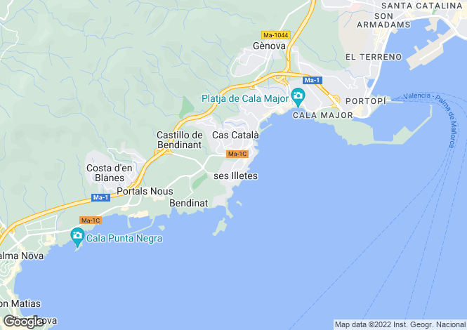 Map for Bendinat, Spain
