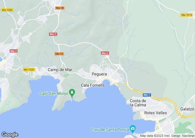 Map for Paguera, Mallorca, Balearic Islands