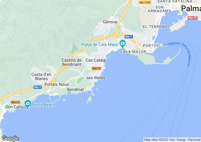 Map for Illetes, Spain