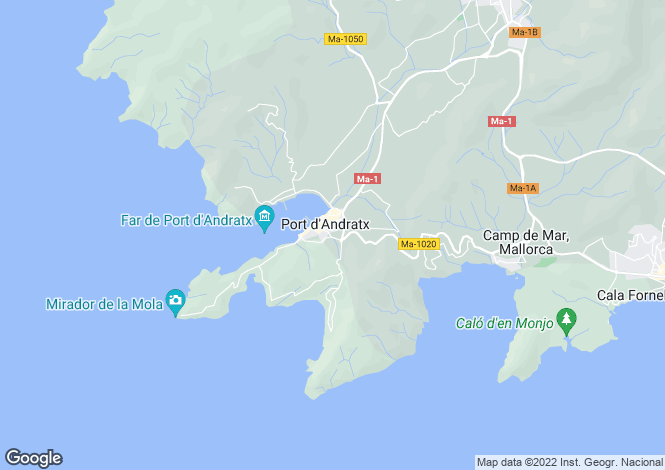 Map for Villa With Unbeatable Views, Port D'Andratx, Mallorca