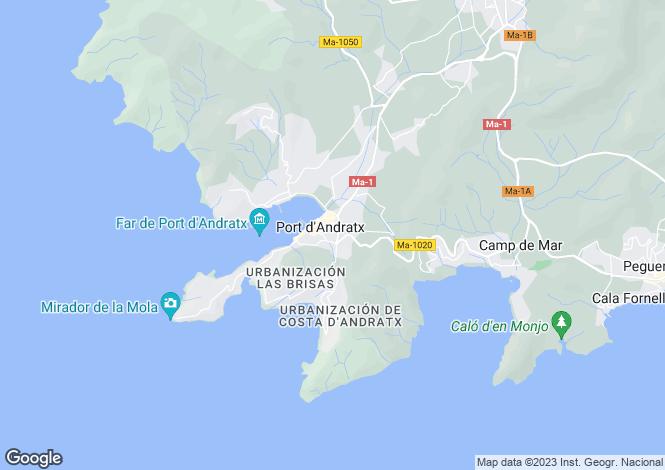 Map for Balearic Islands, Mallorca, Port Andratx