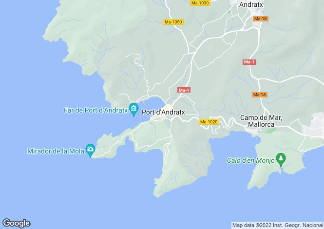 Map for Modern Apartment With Sea Views, Cala Llamp, Port Andratx