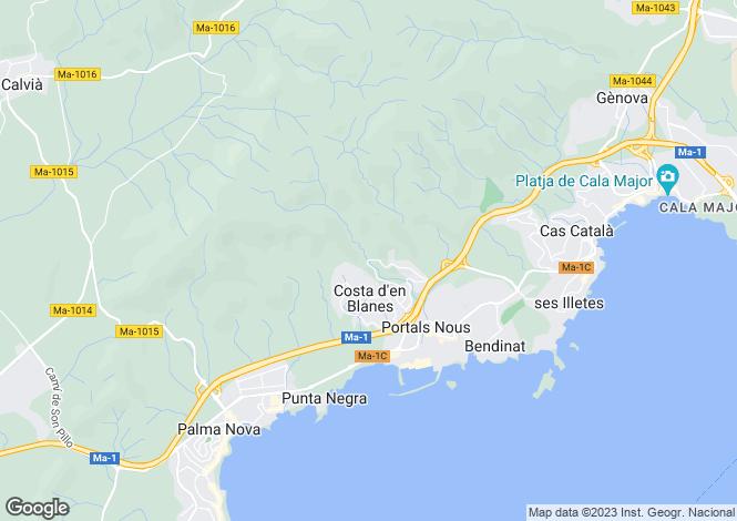 Map for Costa D'en Blanes, Mallorca, Balearic Islands
