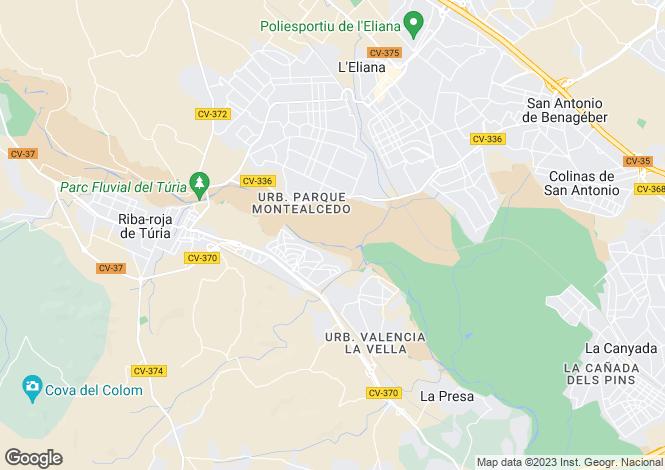 Map for Riba-roja de Turia, Valencia, Valencia