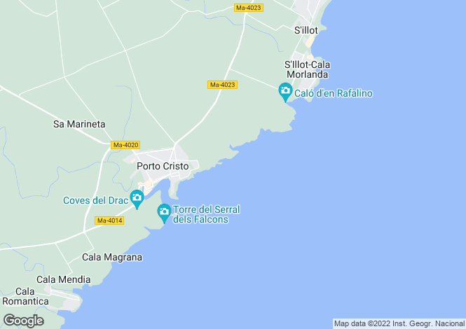 Map for Porto Cristo, Mallorca, Balearic Islands