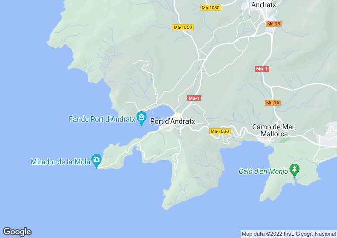 Map for Apartment + Unbelievable Sea View, Port D'Andratx, Mallorca