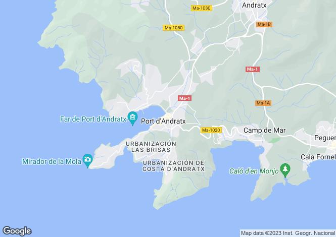 Map for Balearic Islands, Mallorca, Port d`Andratx