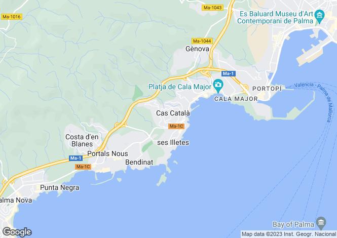 Map for Villa With Views Of Bendinat Golf, Cas Catala Nou, Mallorca