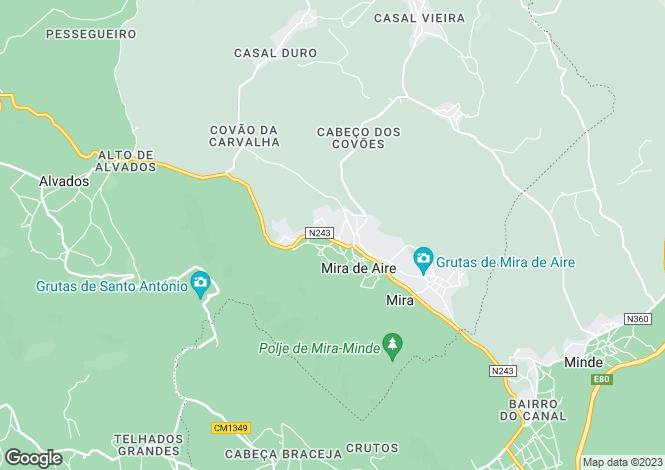 Map for Leiria, Mira de Aire