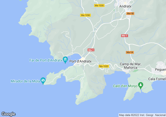 Map for 07157, Puerto Andratx, Spain