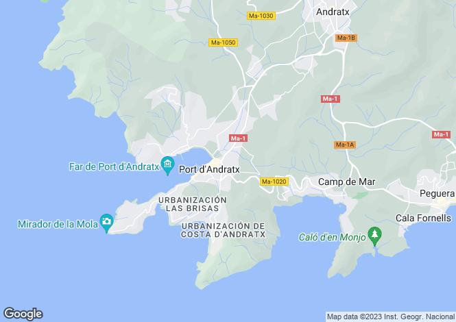 Map for Elegant Waterfront Villa, Port Andratx, Mallorca